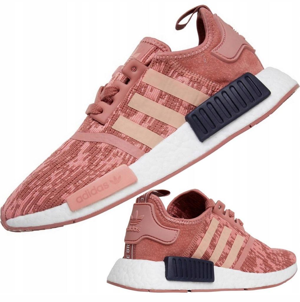 Buty Damskie Adidas NMD_R1 Boost Różowe Sneakersy