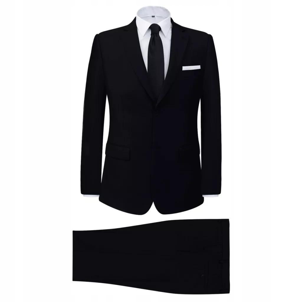 2-częściowy garnitur męski czarny rozmiar 52