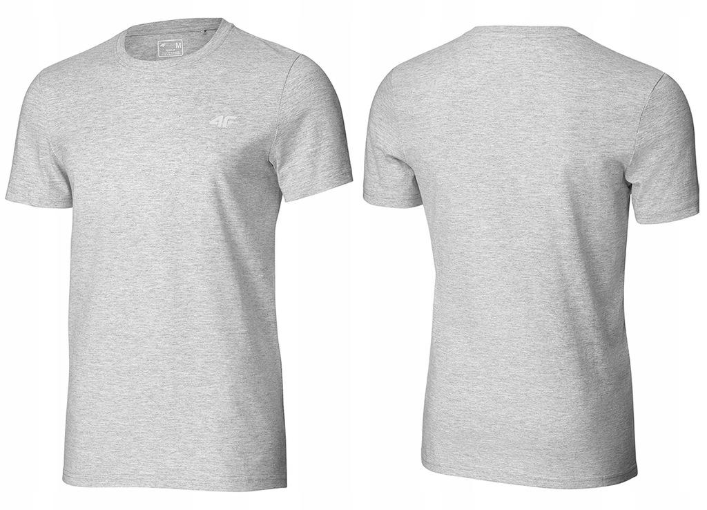 4F T-shirt KOSZULKA Męska TSM003 Bawełna J.SZARY