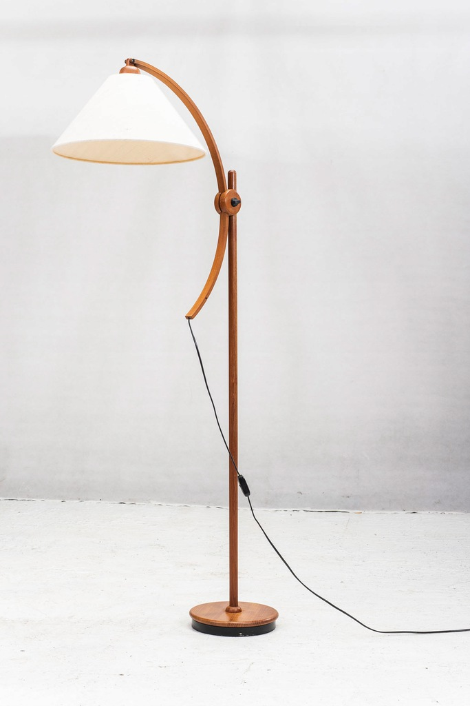 Lampa Teak Vintage Design Retro Domus podłogowa
