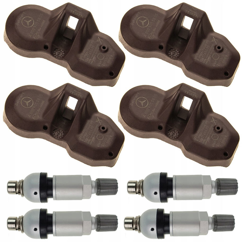 4 Czujniki ciśnienia TPMS MERCEDES CL 315 MHz OEM