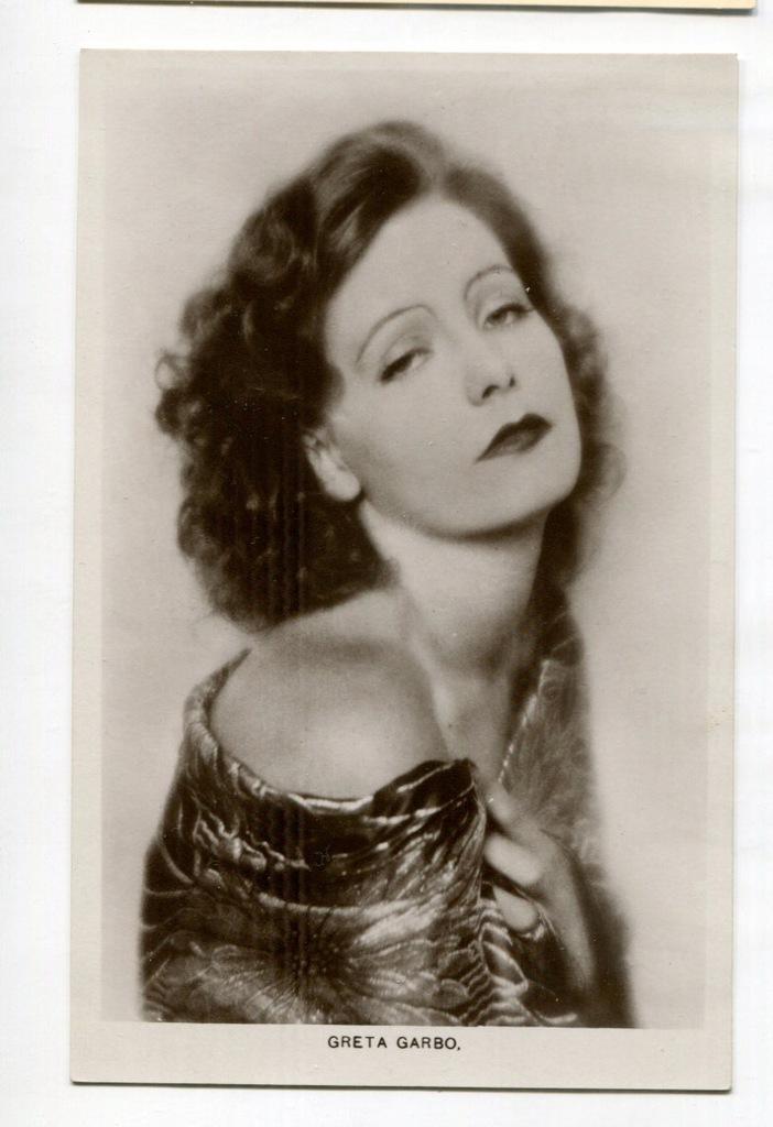 Greta Garbo Kino Film Aktorka Foto Pocztówka 49