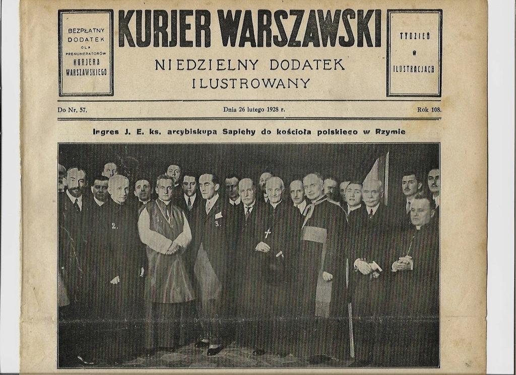 1928 Sapieha Augustów Warszawa Piasecki