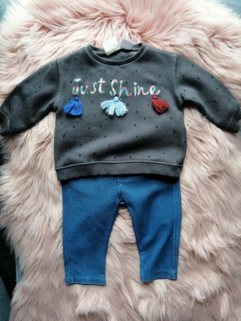 Bluza i jeginsy Zara r 68
