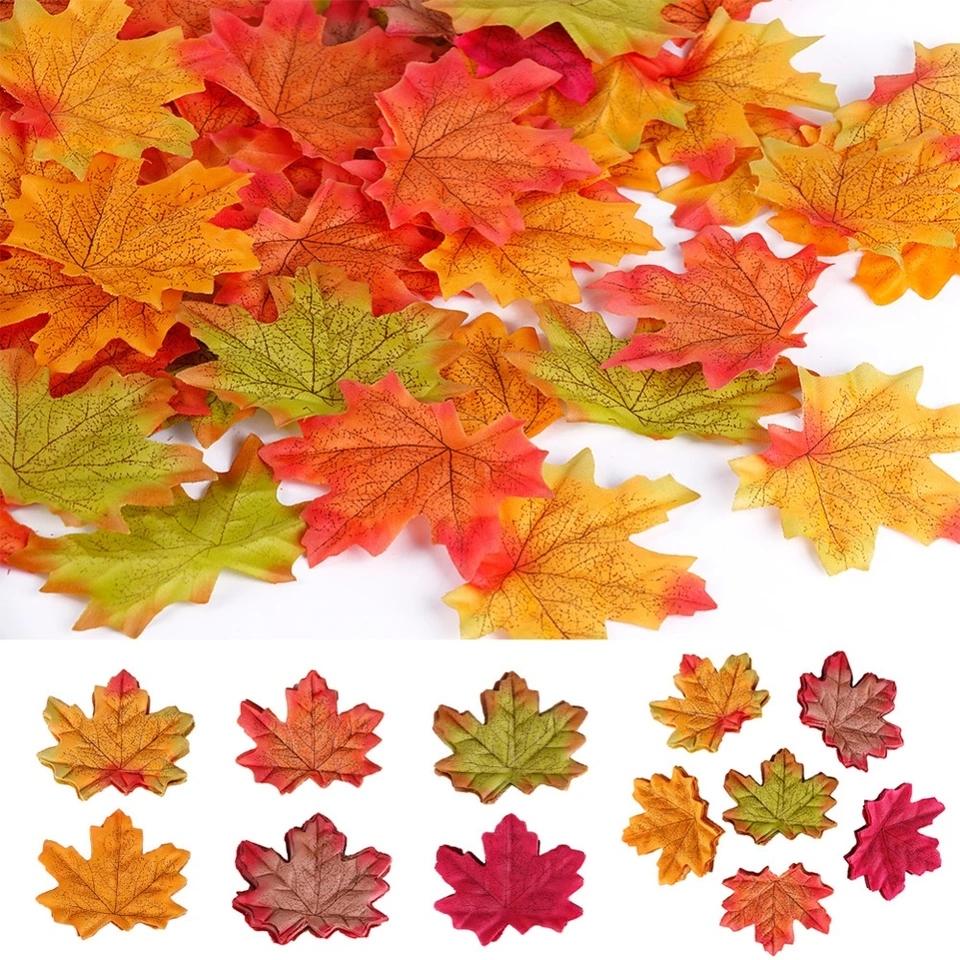 Jesienne Liscie Z Materialu 10 Sztuk Kolor Mix 7532517810 Oficjalne Archiwum Allegro