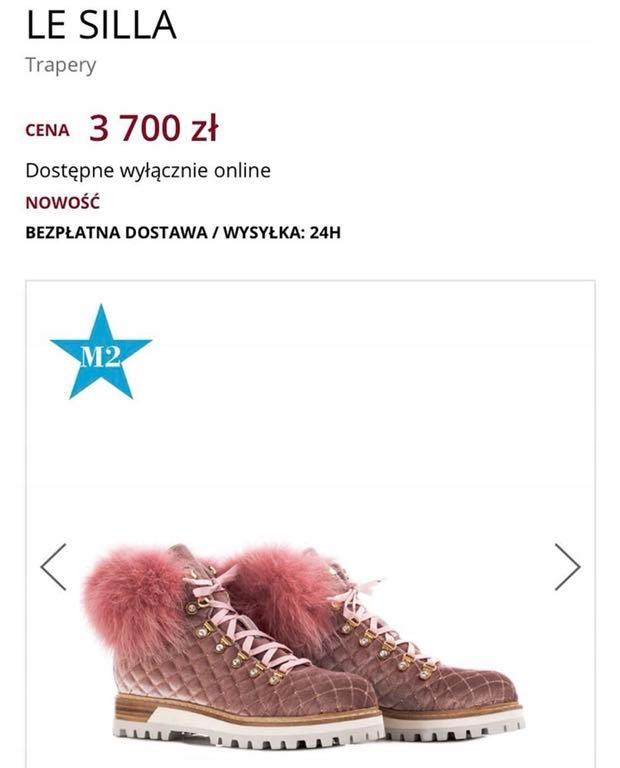 Różowe botki z cyrkoniami Silla Obuwie   Royalfashion.pl