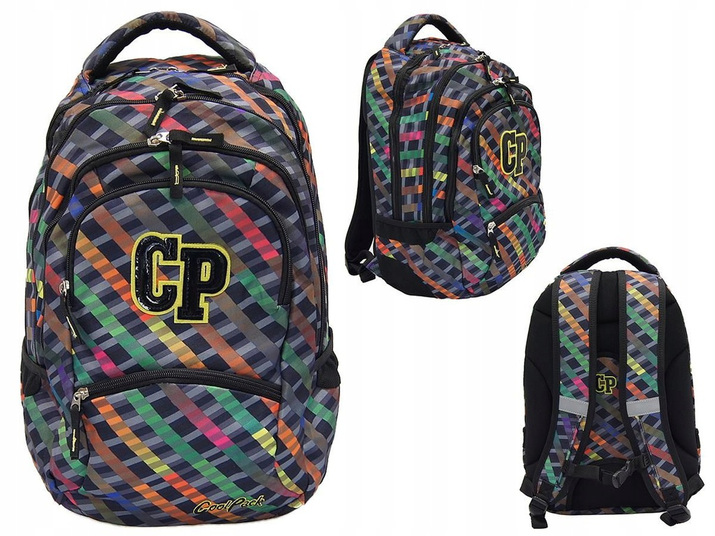 Plecak CP College Rainbow stripes 77675CP nr 658