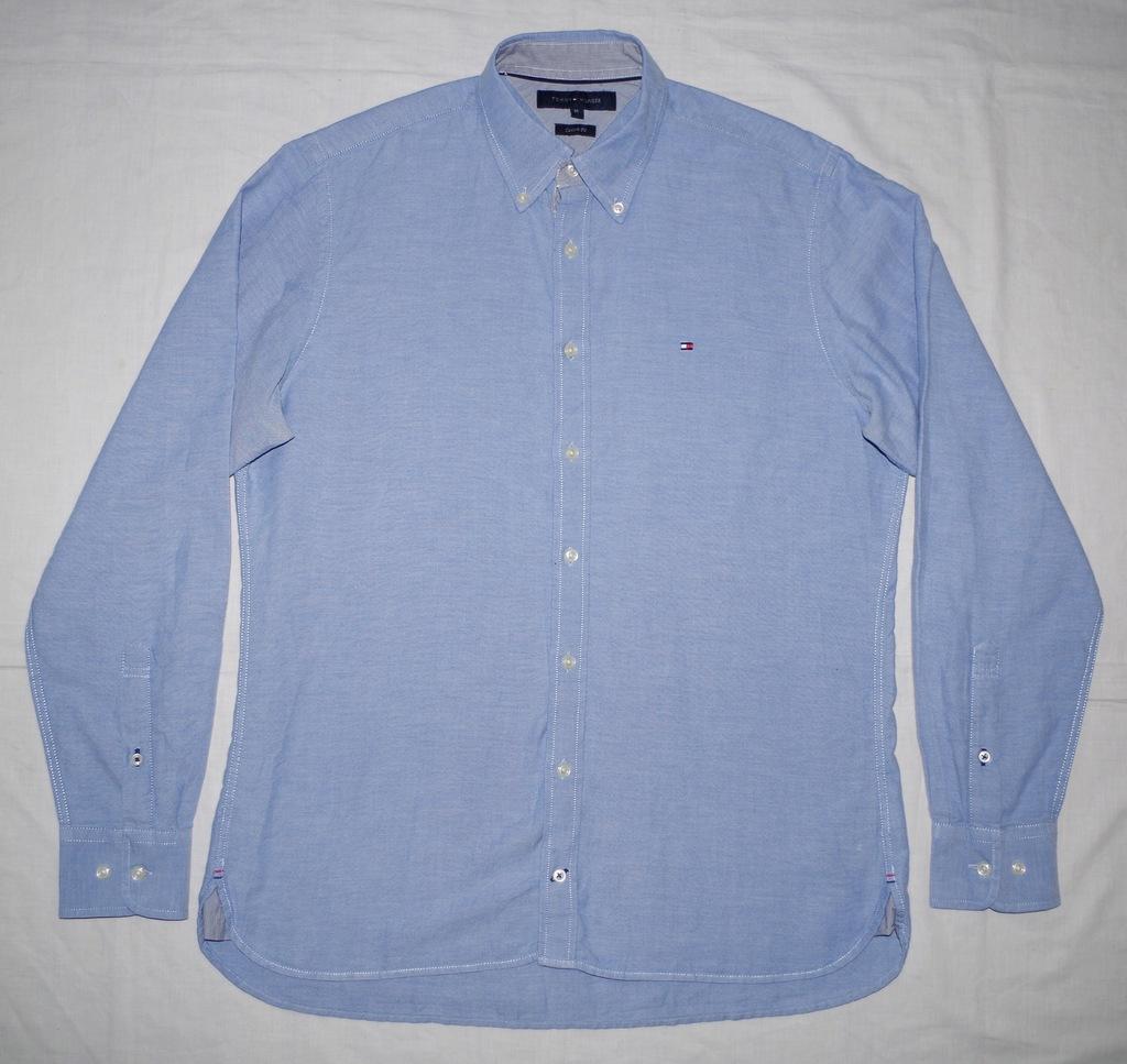 TOMMY HILFIGER stylowa koszula męska M CUSTOM FIT