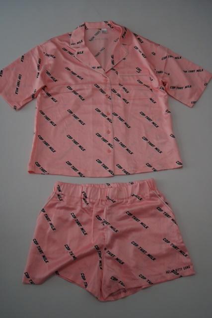 piżama H&M koszula i szorty 42 XL E117