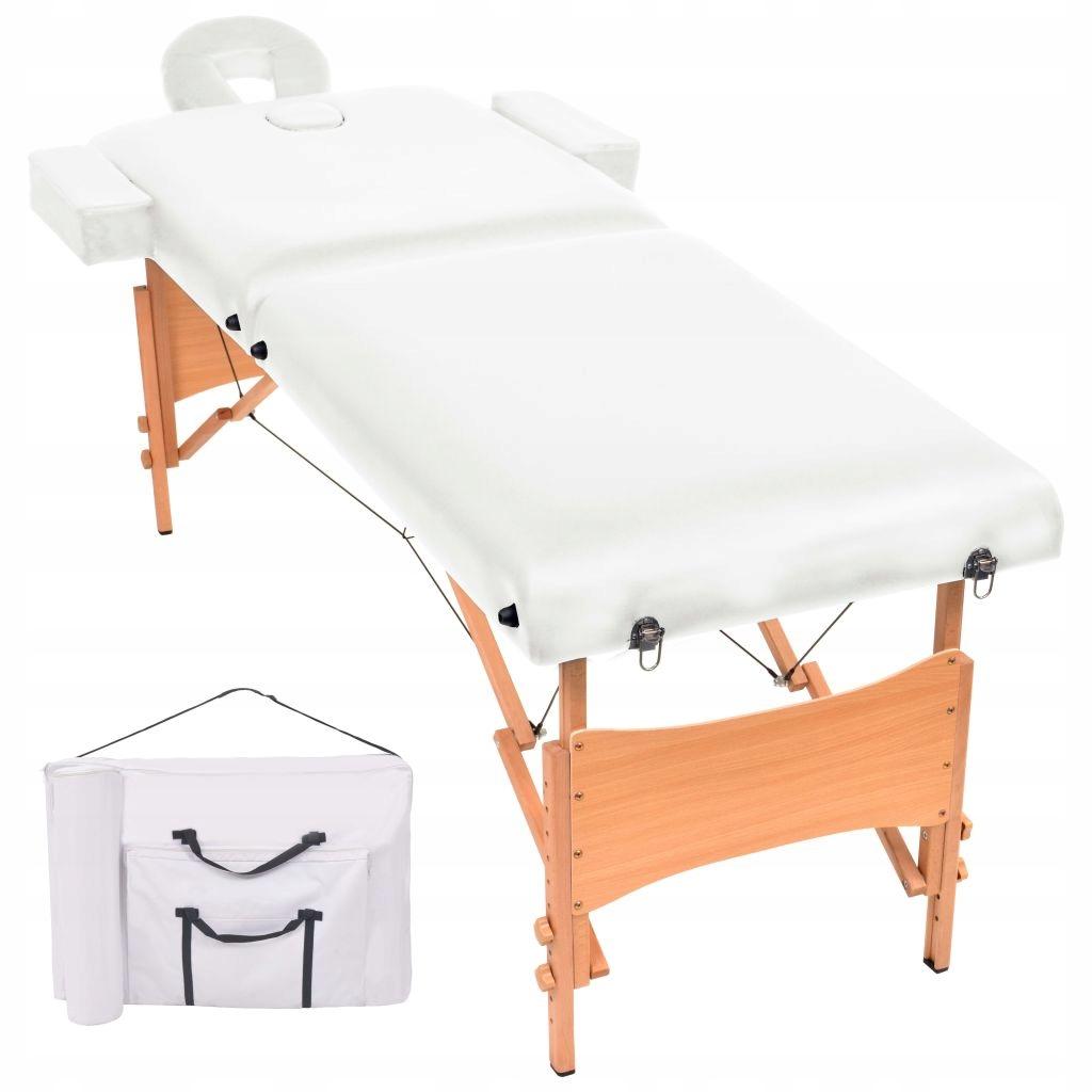 Składany stół do masażu, dwuczęściowy, grubość 10
