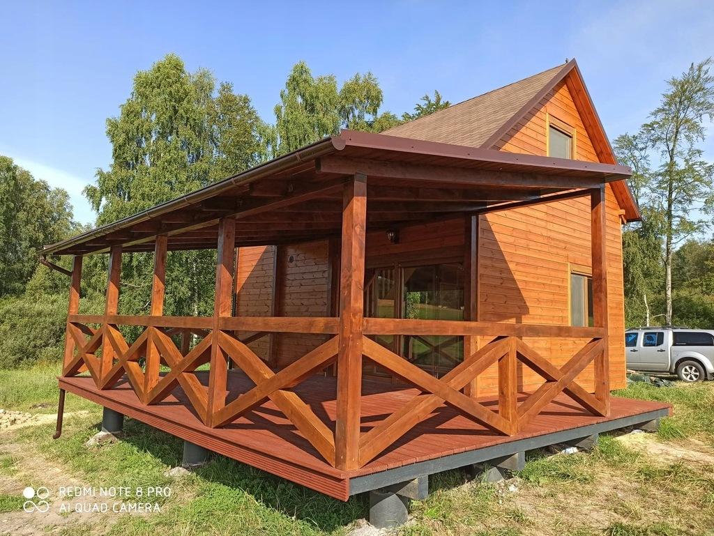 Dom z drewna całoroczny,letniskowy,domek drewniany