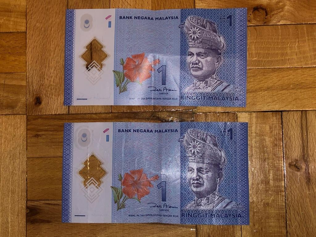 Waluta Malezji: 1 Ringgit Malezyjski - 2 sztuki