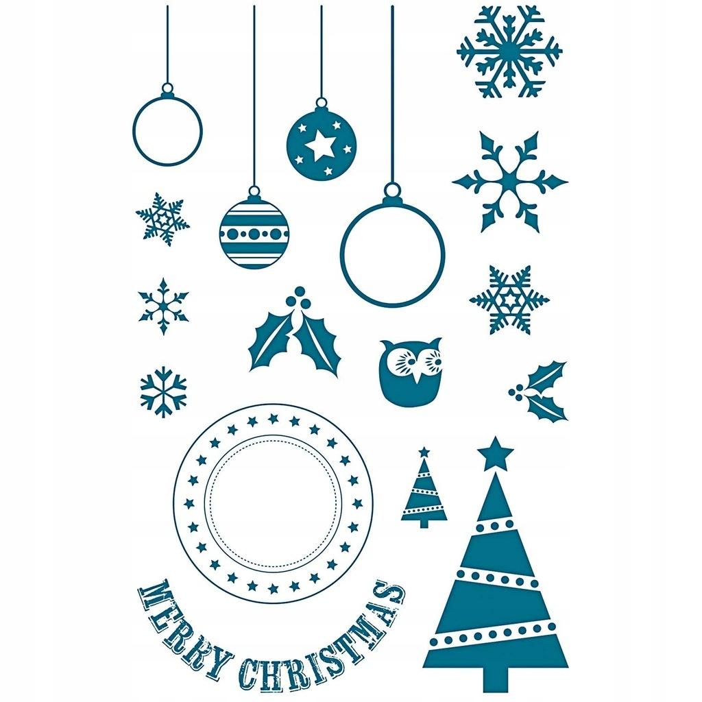 Stemple silikonowe świąteczne - Merry Christmas