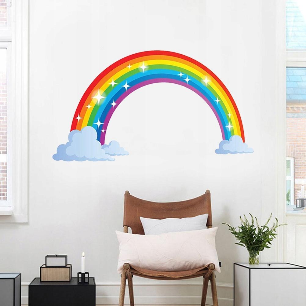 1szt Rainbow Naklejki DIY Wodoodporne samoprzylepn