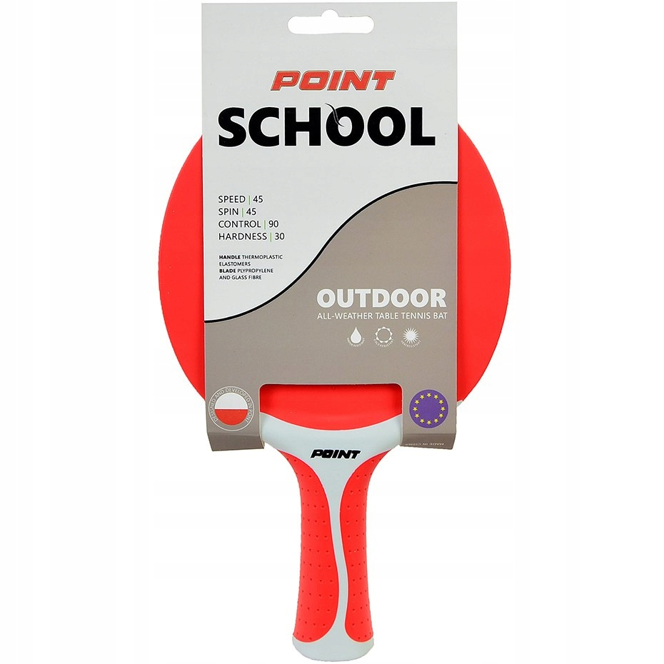 Rakietka do ping ponga Point School Outdoor czerwo