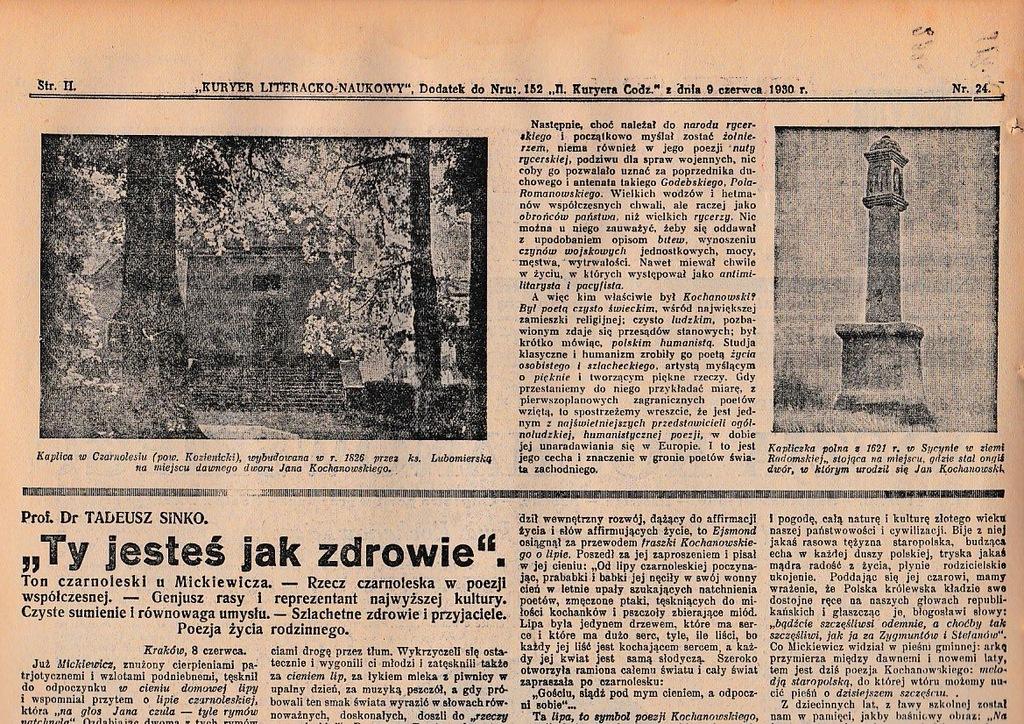 Kln 1930 24 Kochanowski Kraków żmuda