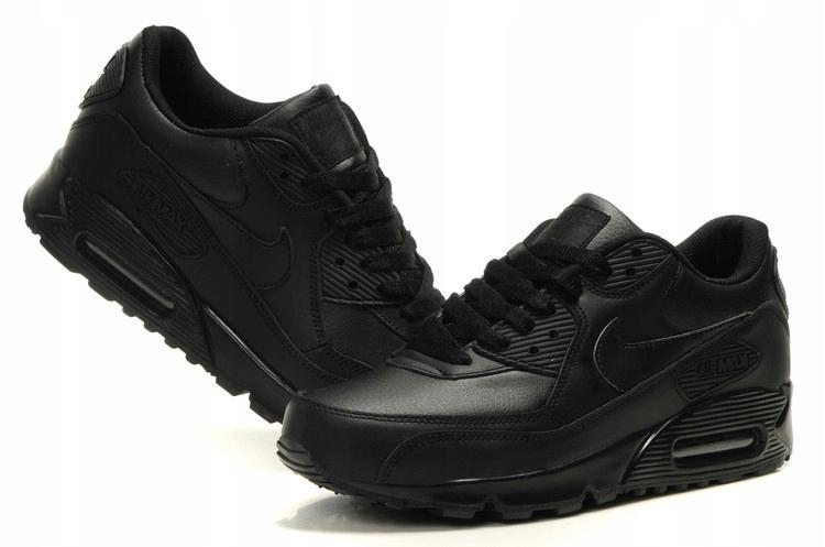 głębokie czarne męskie nike air max 90 buty zimowe sneakerboot