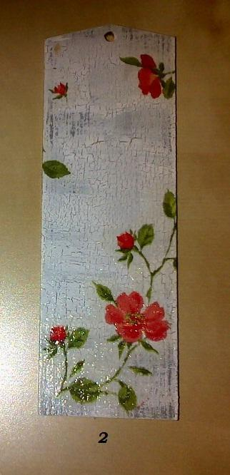 Zakładka do książki - ręcznie zdobiona decoupage