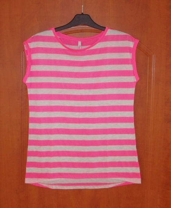 top biały + różowy paski Reserved 38