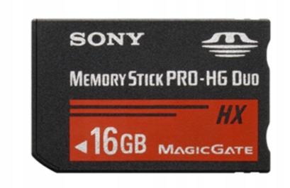 Sony Memory Stick PRO-HG Duo MSH-X16B 16GB karta