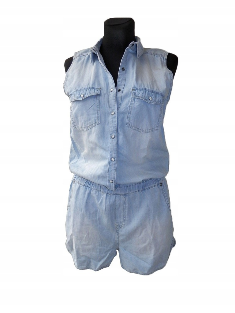 YFLReserved- letni, damski kombinezon jeansowy, 40