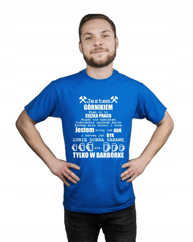 Koszulka męska JESTEM GÓRNIKIEM r XL