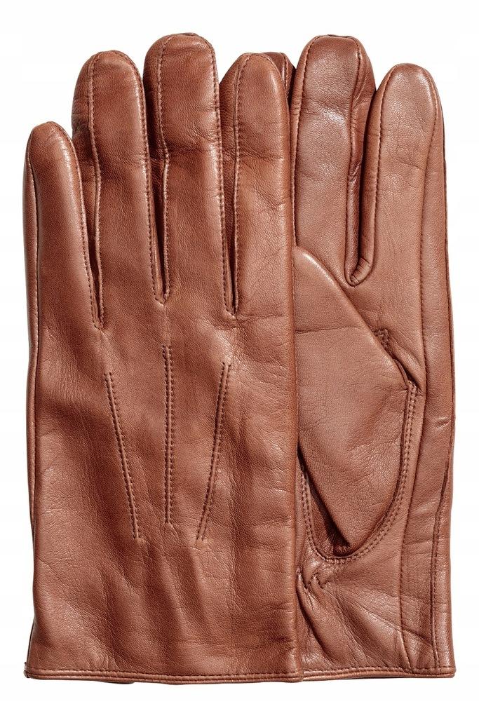 H&M skórzane, męskie rękawiczki M