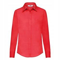 DAMSKA koszula POPLIN LONG FRUIT czerwony 3XL