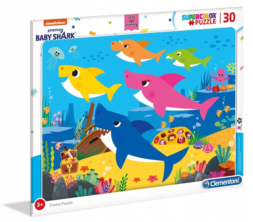 Clementoni Puzzle 30el ramkowe Baby Shark