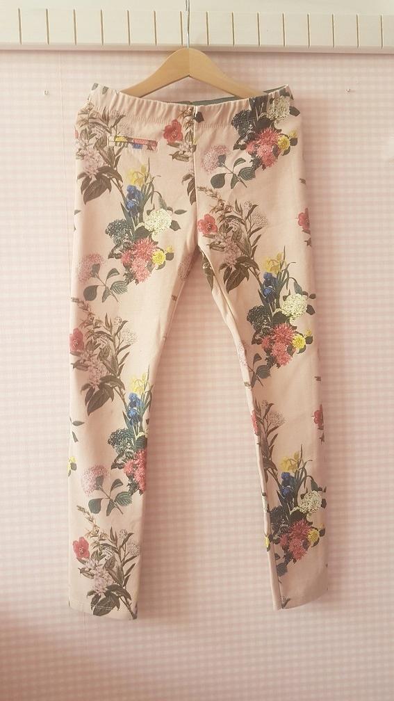 legginsy JOGGERSY w kwiaty ZARA dla dziewczynki140
