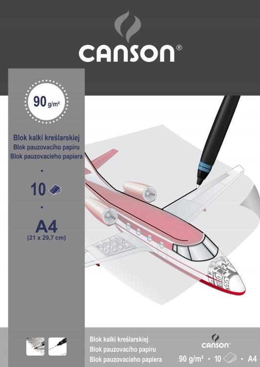 Blok kalki kreślarskiej Canson A3 90g 10ark (samol