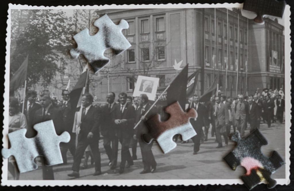 Stalowa Wola - pochód pierwszomajowy - MDK - Lenin
