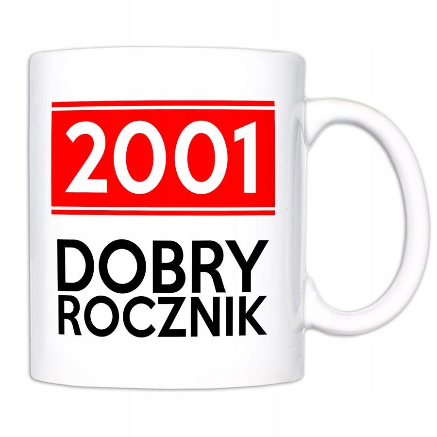 Prezent na 18 urodziny - kubek dobry rocznik 2001