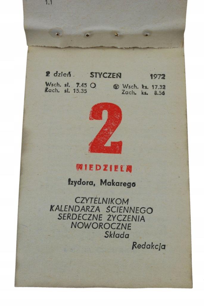 48 urodziny PREZENT kartka kalendarz zdzierak 1972