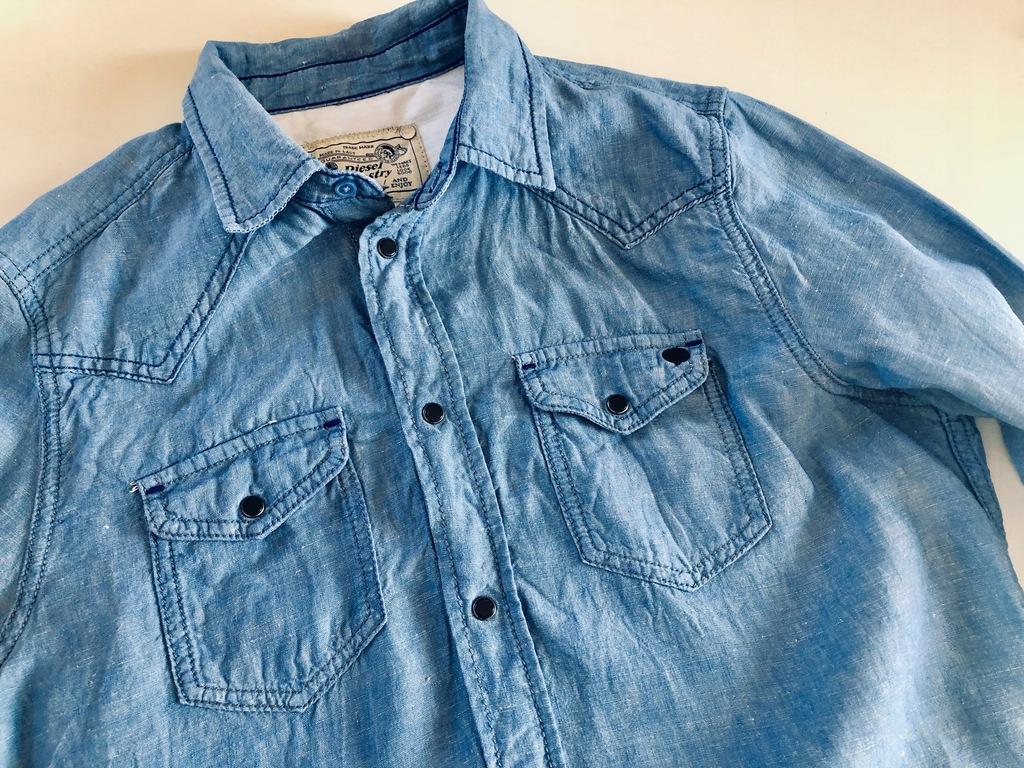 Piękna lniana koszula DIESEL błękit M / 3014