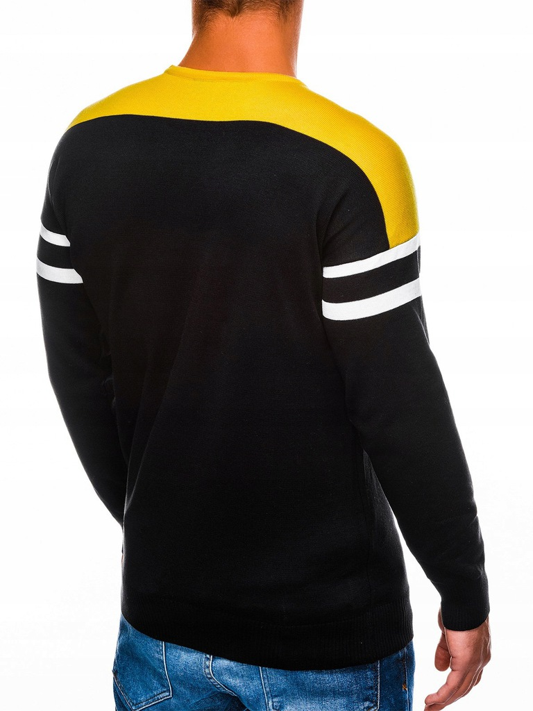 Sweter męski ściągacz sportowy E146 czarny M