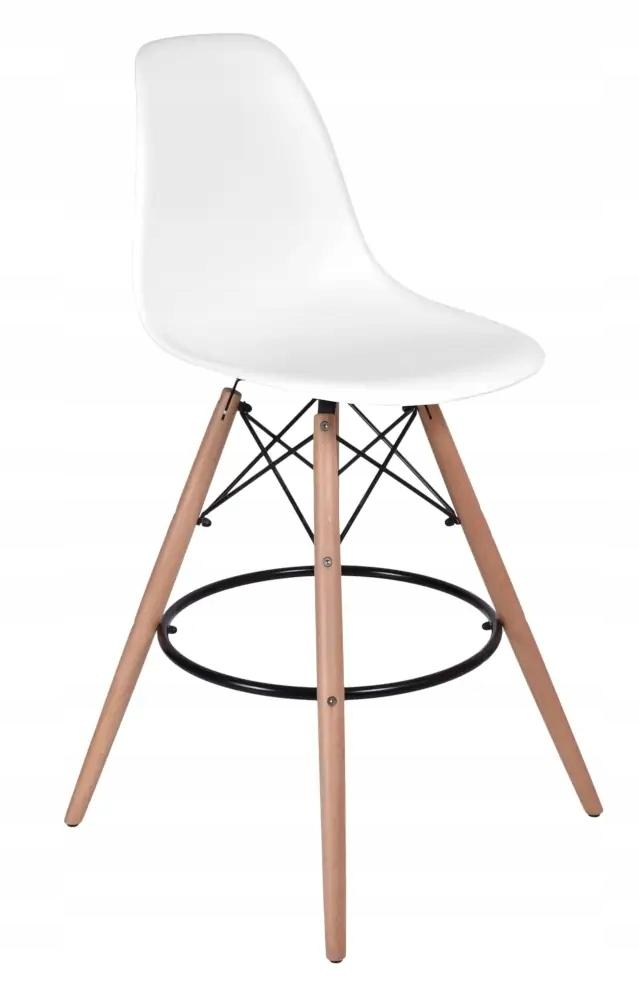 Krzesło barowe HK-CAPRI białe