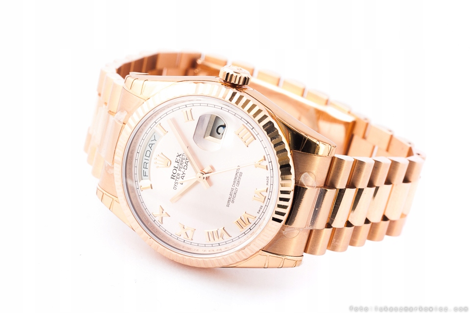 ROLEX OYSTER PERPETUAL DAY-DATE PRESIDENT GOLD
