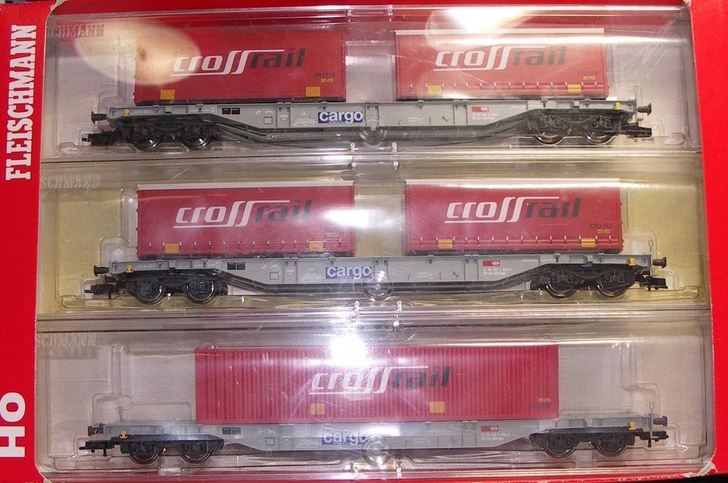 Fleischmann zestaw wagonow x3 SBB z kont CrossRail