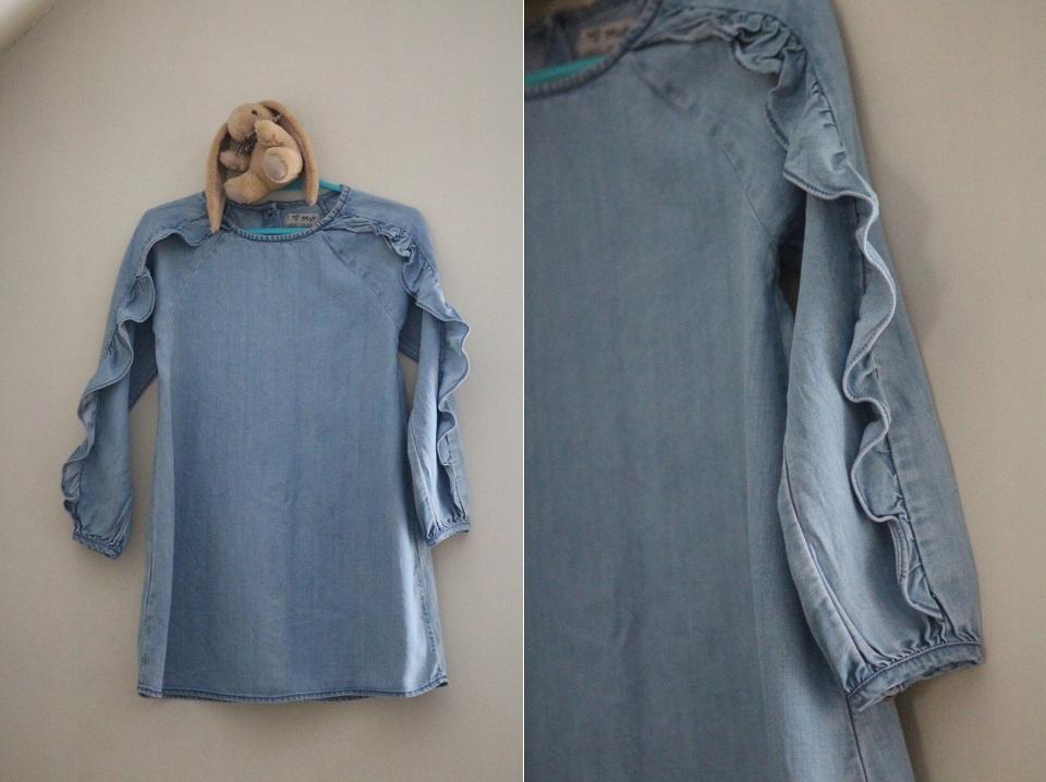 NEXT sukienka jeansowa rozm.110cm, 4-5lat