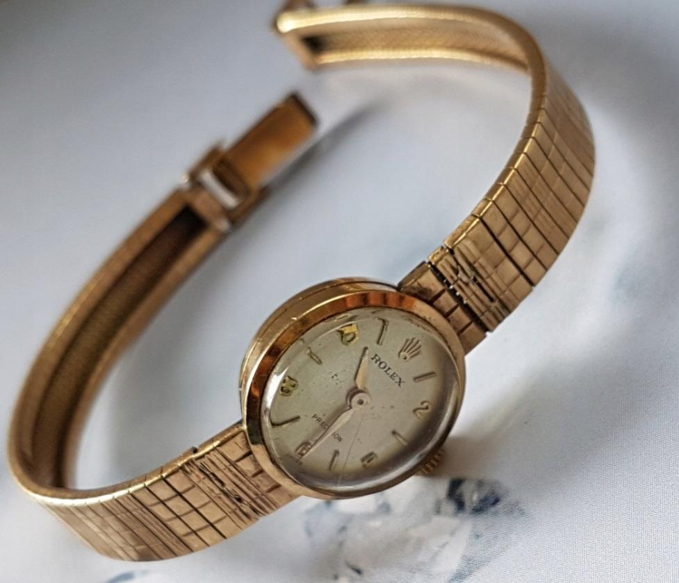 Złoty Rolex Damska Klasyka Bransoleta