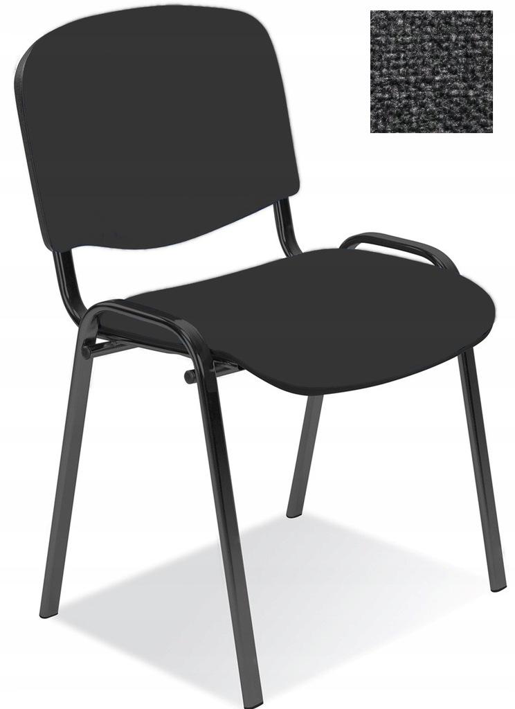 Krzesło konferencyjne ISO ciemny szary Nowy Styl