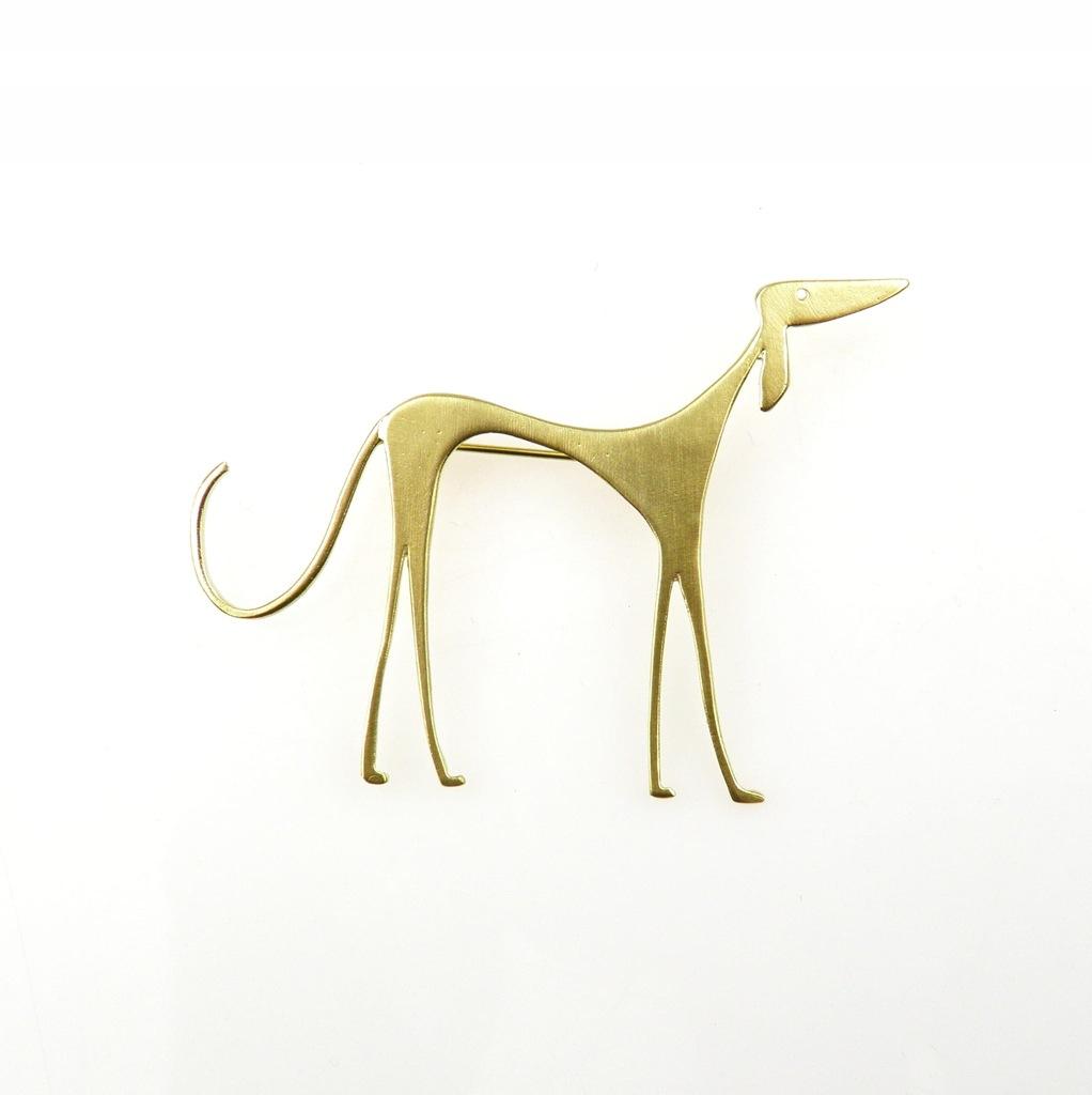 Venus Galeria - Broszka srebrna - Złoty Chart