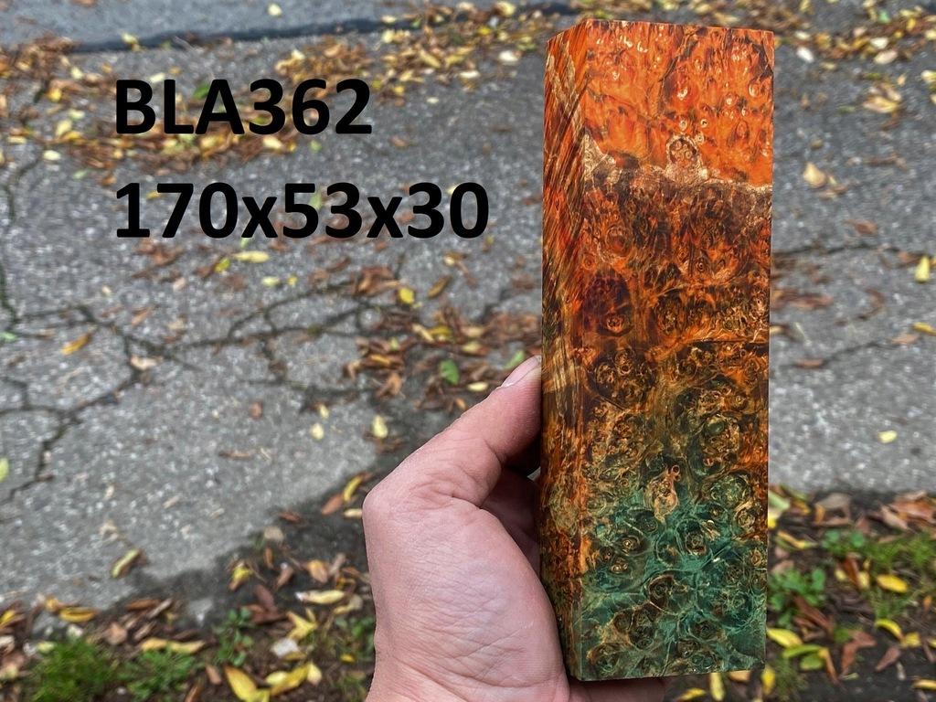Drewno stabilizowane bloczek knifemaking BLA362