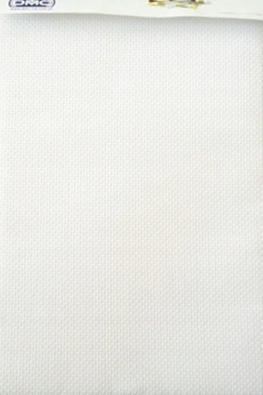 KANWA DMC 33x49 cm AIDA 18 biała