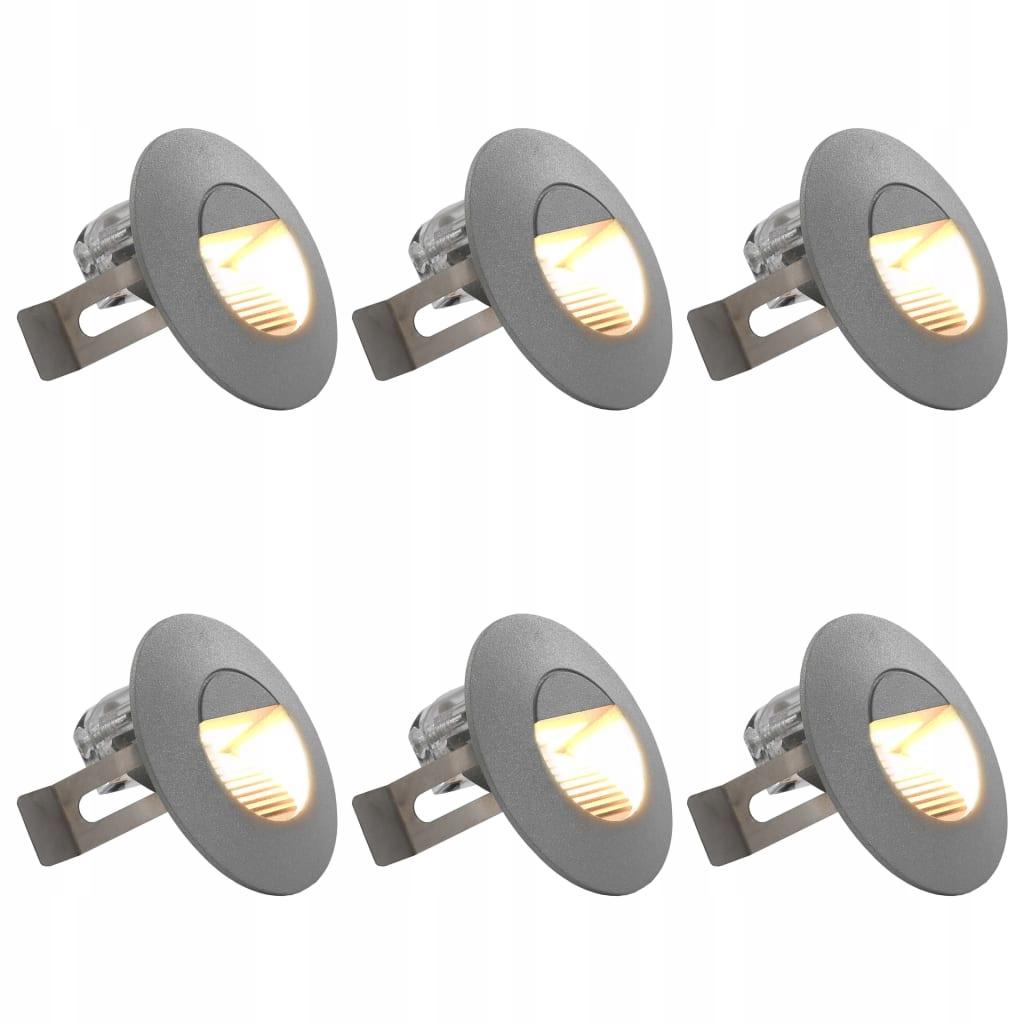 Lampy ścienne zewnętrzne LED, 6 szt., 5 W, srebrne