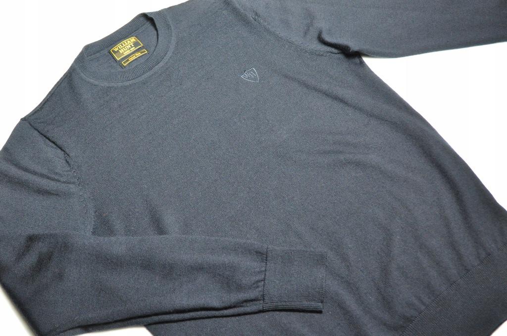 ATT sweter granatowy William Hunt merino M
