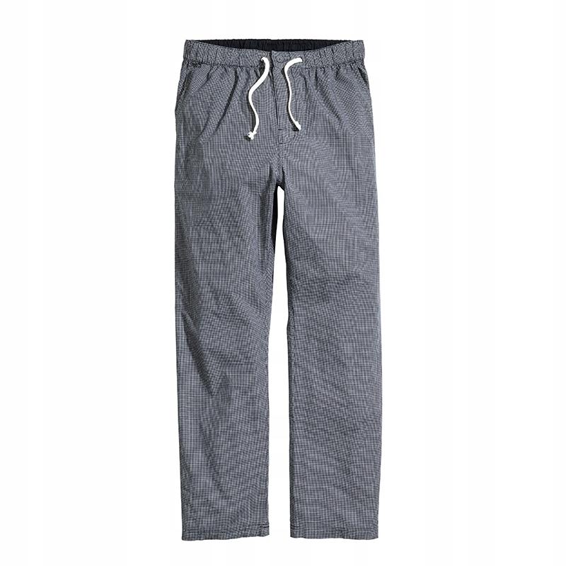 H&M długie spodnie piżamowe krata L