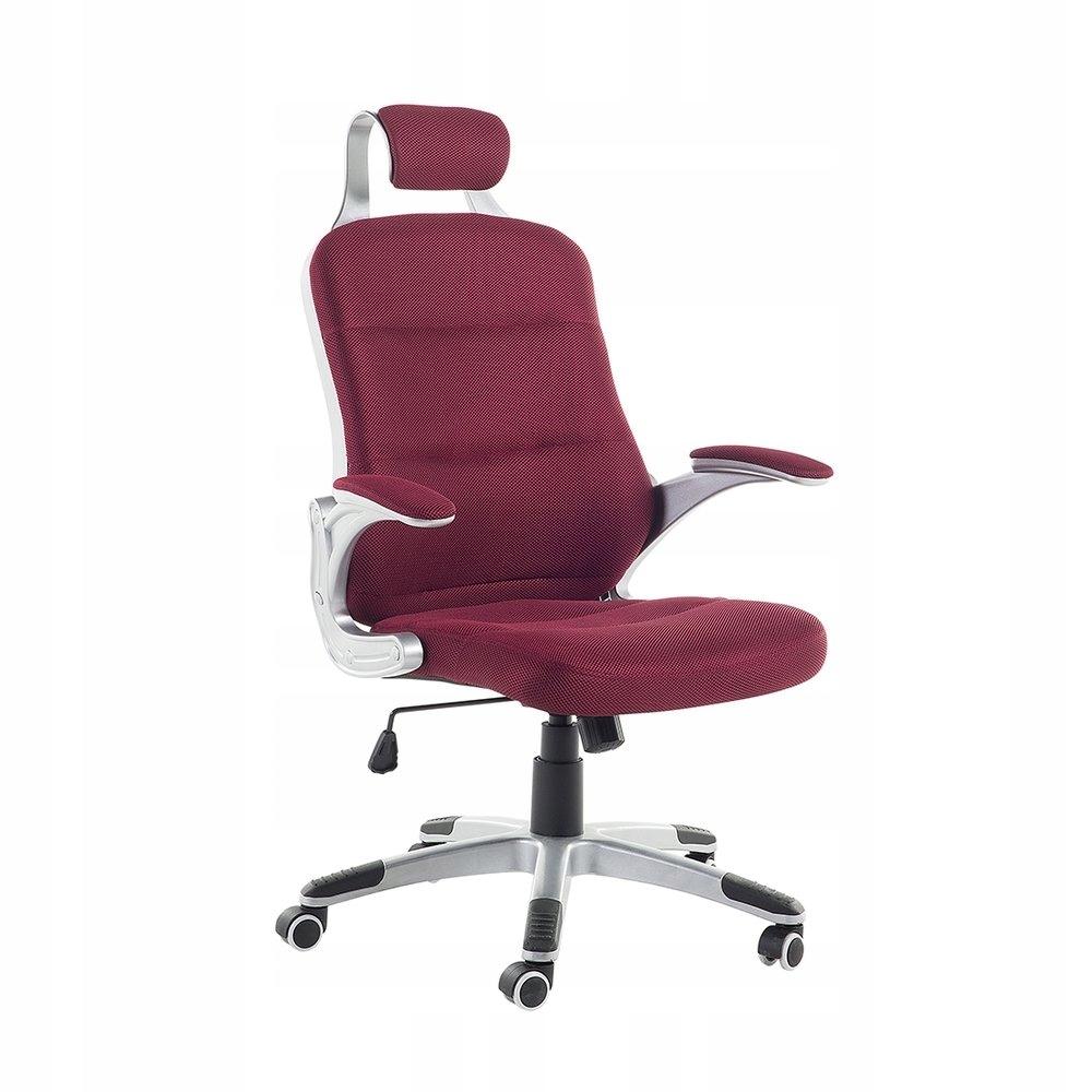 Krzesło biurowe burgundowe regulowana wysokość PRE