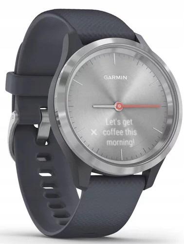 Srebrny Zegarek sportowy GARMIN Vivomove 3S GPS